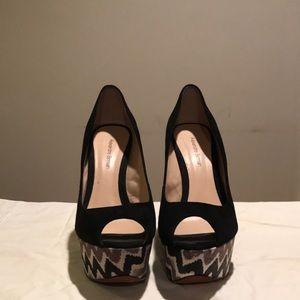 Alexander Birman  suede plateform 6 inch shoe
